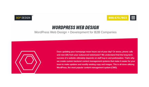 wordpress web design for b2b