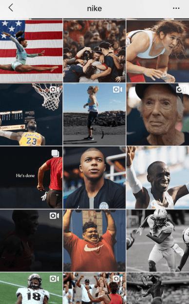 Nike insta grid
