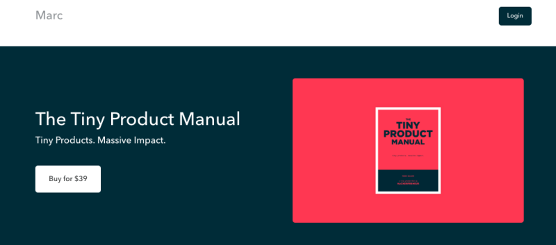 Marc Eglon's Tiny Product Manual