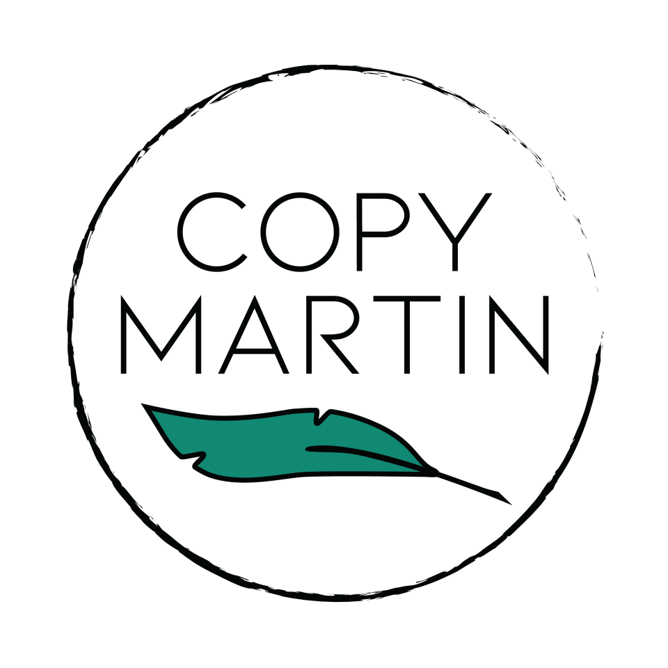 Logo for Copy Martin, website of San Diego copywriter Martin Ceisel