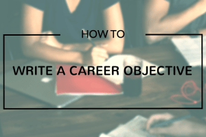 career objective writing
