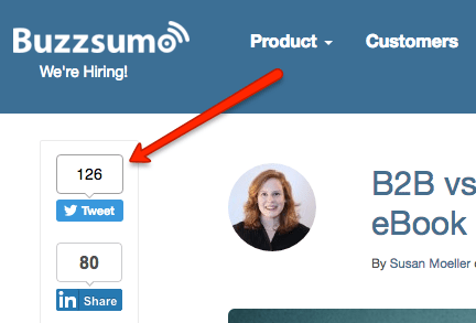 Buzzsumo Twitter Shares
