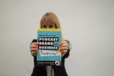laura petersen copy that pops copywriting for podcasters amazon best seller book funny