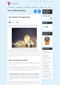 How to Become a Thought Leader small