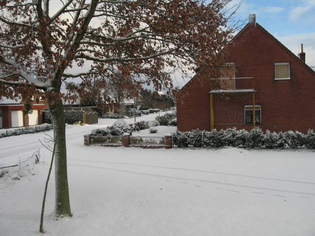 Neighbour house in the snow