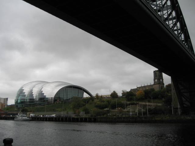 The Sage, the Tyne Bridge and St Mary's Gateshead