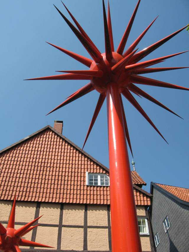 Spiky sculptures in Celle
