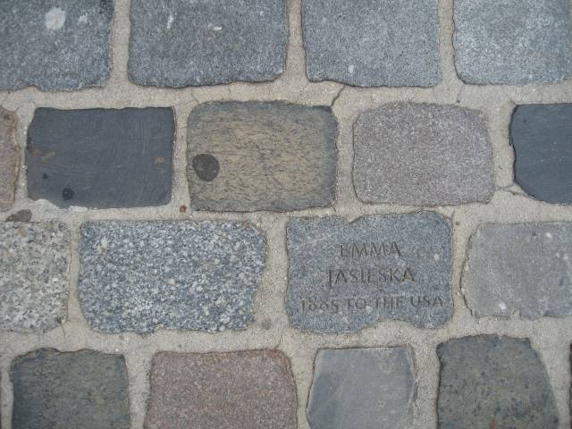 Bremerhaven emigration museum pavement
