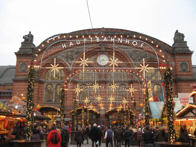 Bremen Central Station Christmas