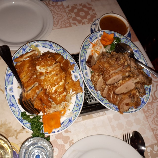 Duck and chicken dishes