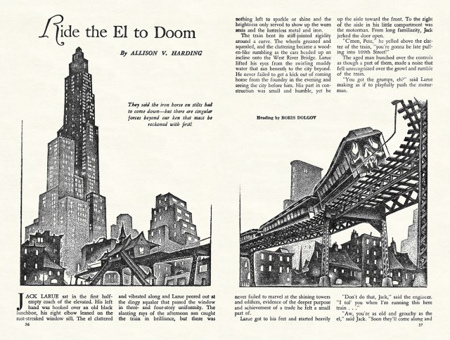 "Interior art ""Ride the El to Doom"""