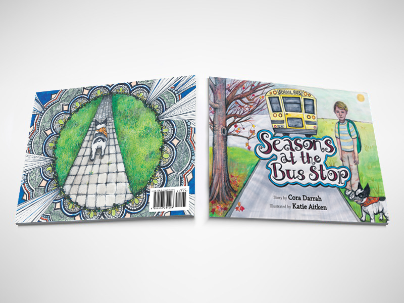 Seasons at the Bus Stop by Cora Darrah is a children's picture book about a boy and his dog and their experience at the bus stop.