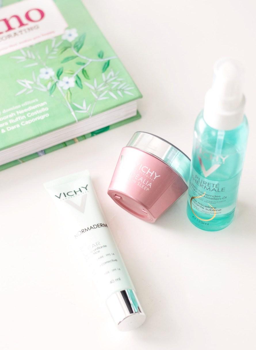 Vichy Idéalia Skin Sleep, Normaderm BB Clear & Pureté Thermale Reinigungs-Mizellen-Öl