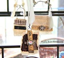 Mixed media necklaces