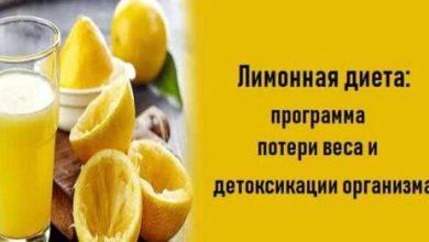 Photo of Лимонная диета:программа потери веса и детоксикации организма!