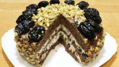 Photo of Домашний торт «Чернослив в шоколаде»