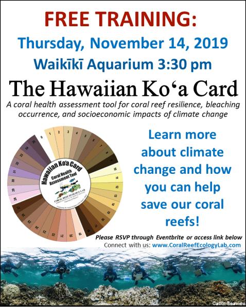 Waikiki Aquarium flyer