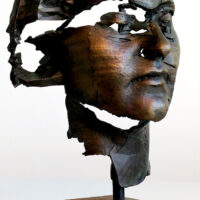 Young Woman Bronze Sculpture by Sophie Kahn