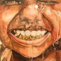 Javaughn Thompson Smile Watercolor Best in Show Mc Arthur High School