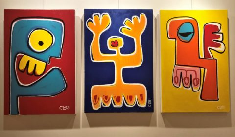 3 paintings by CLoD.