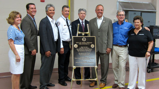 Coral Springs Holds Ribbon Cutting Ceremony for New Fire Station
