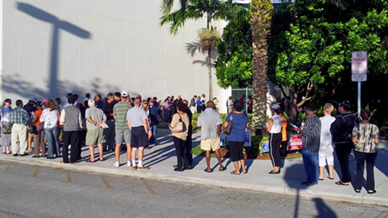 Coral Springs Residents Show Patience During Early Voting