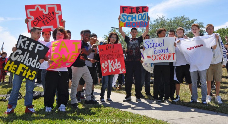 Rally at Stoneman Douglas High School Result of Flawed Evaluation System