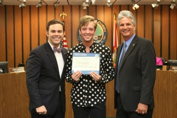 Connor receives Special Recognition from the City of Coral Springs