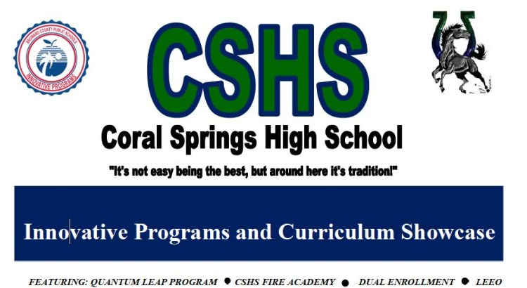 Coral Springs High School Holds Innovative Programs Showcase for Incoming Students