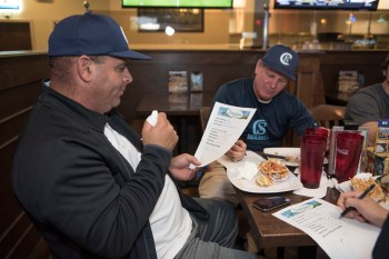 Coral Springs Charter Athletic Director Mike Higgins; Varsity Head Baseball Coach Rob Perez;