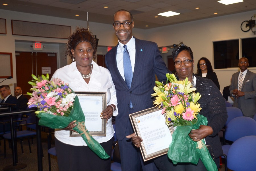 Kathy Ritter,  Superintendant Robert Runcie and Gwendolyn Brinson