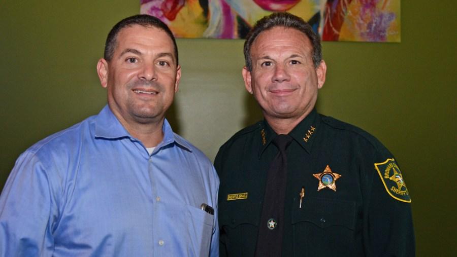 Sheriff Scott Israel and Parkland Mayor Michael Udine