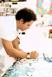 Britto in his studio