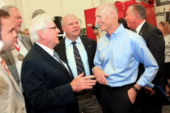 Mayor Skip Campbell with Governor Rick Scott at the announcement today.