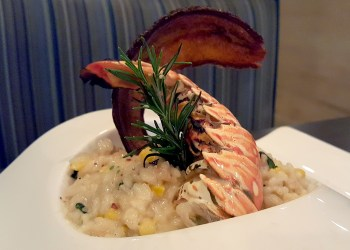 Florida lobster tail risotto