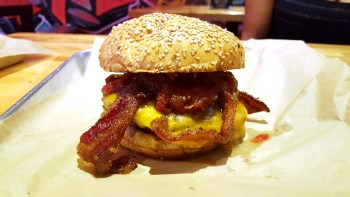 The Peanut Butter Jelly Time burger
