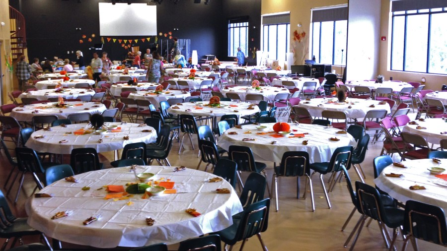 First Church Coral Springs Thanksgiving Dinner usually attracts over 150 people each year.