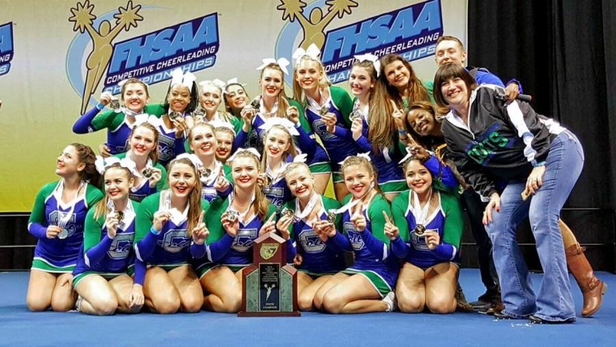 Coral Springs High School Cheerleaders - Photo by Donna DeSanta.