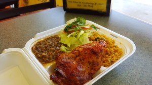 Roasted Chicken with Arroz con Gandules and Lentils