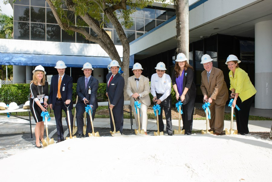 Groundbreaking ceremony included: Kim Jutras Graham/Broward Health Coral Springs(BHCS) Chief Operating Officer & Chief Nursing Officer; Ronald Brandenburg/BHCS Chief Financial Officer; Drew Grossman/ BHCS Chief Executive Officer; Parkland Mayor Michael Udine; Coral Springs Vice Mayor Dan Daley; Coral Springs Commissioner Lou Cimaglia; Parkland Commissioner Christine Hunschofsky; Coral Springs Mayor Skip Campbell; Commissioner Joy Carter .