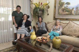 Gerardo, Julieta, daughter Jackie Guzman and Julieta's mother Josefa.