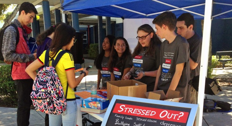 JP Taravella DECA Students Promote Crisis Text Line Throughout Broward County Schools
