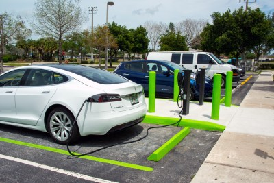 New electric vehicle charger by Tesla in Coral Springs