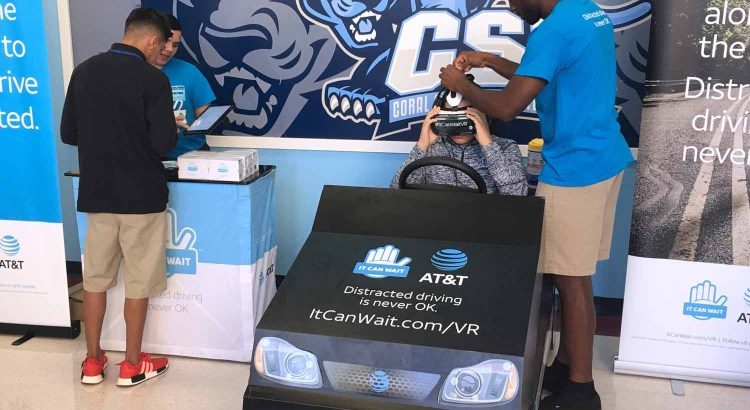 Students Learn Dangers of Distracted Driving in Virtual Reality Simulator