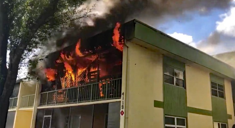 Condo Catches Fire in Coral Springs