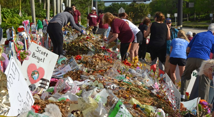 Volunteers Organize and Archive Items from Marjory Stoneman Douglas Memorial