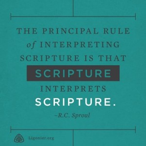 Scripture interprets Scripture