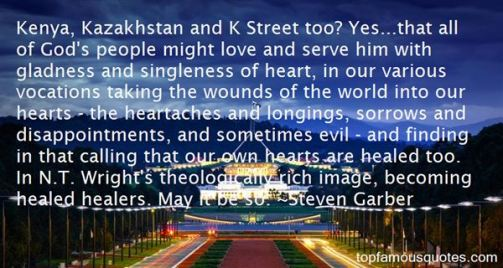 Steven Garber Quote