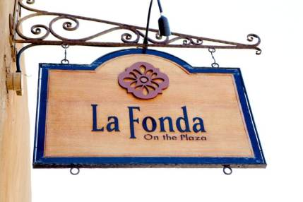 La Fonda on the Plaza Main Sign in Santa Fe, New Mexico