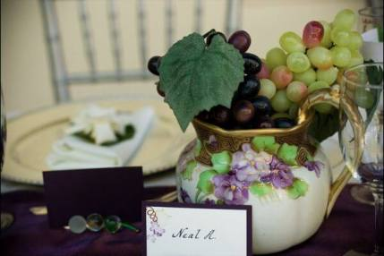 Vineyard Wedding Table Setting